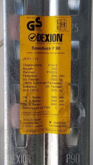 Dexion Speedlock P90 Typenschild